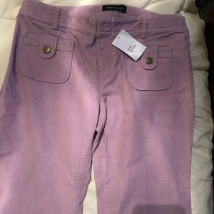 🆕 Dusty Pink Sz 12 Flare/Bootcut Corduroy Pants